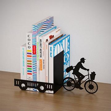 balvi Bücherstütze Postman Farbe Schwarz Dekorativ Metall - 4