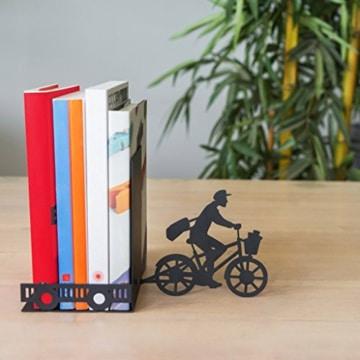balvi Bücherstütze Postman Farbe Schwarz Dekorativ Metall - 5