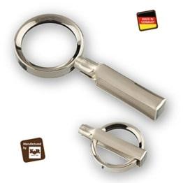 Handgearbeitete Metall-Klapplupe Made in Germany - 1