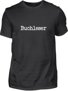 Buchleser Shirt schwarz