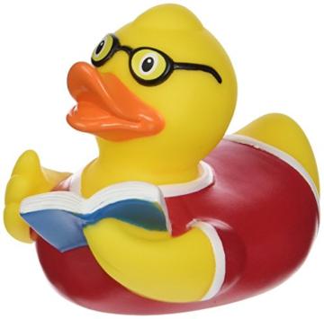 LiLaLu  lesende Badeente mit Buch -
