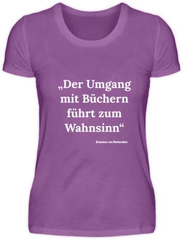 Lila Shirt Erasmus von Rotterdam