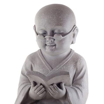 Dekofigur – Lesender buddhistischer  Mönch -