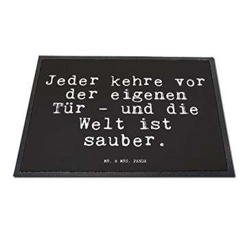 """Fußmatte  – Goethe Zitat  """"Jeder kehre vor der eigenen Tür """" -"""