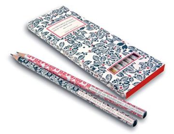 Insel-Bücherei Bleistift-Set I. 6 Bleistifte mit Zitaten -