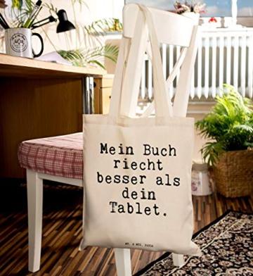 """Mr. & Mrs. Panda Tragetasche mit Spruch """"Mein Buch riecht besser als dein Tablet."""" -"""