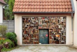 Bücherergal Aufkleber für Garage
