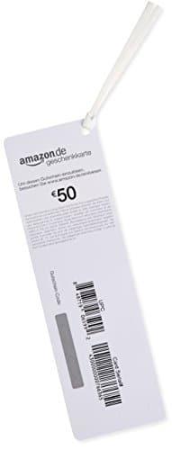 Amazon.de Geschenkkarte als Lesezeichen – 50 EUR (Blumen) -