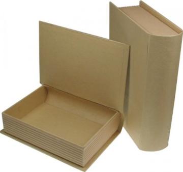 Pappschachtel, Buch, 2er Set DIY -
