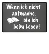 Fussmattte für Leser grau