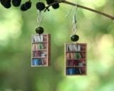 Mini Bücherregal Ohrringe