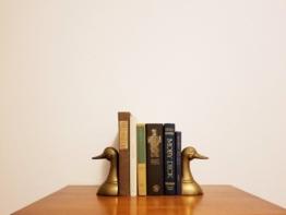 Buchstützen Messing Enten