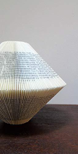 Deko Vase aus  altem Buch -