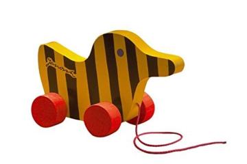 Janosch Tigerente aus Holz mit Schnur, 19 cm -