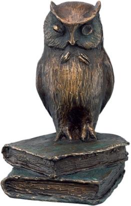 Büchereule Skulptur von Kurt Arentz