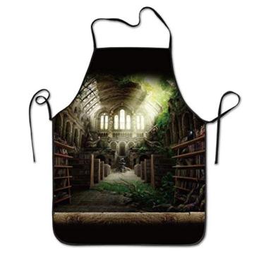 Schürze Grusel-Bibliothek -