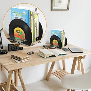 Buchstützen in Schallplattenform -