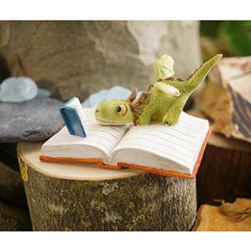 Miniaturfigur lesender Drache -