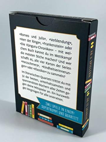 Das literarische Quartett: Das kurzweilige Kartenspiel für Buchliebhaber -