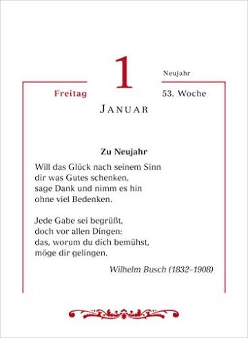 Mit deutschen Gedichten durch das Jahr 2021 Tagesabreißkalender -