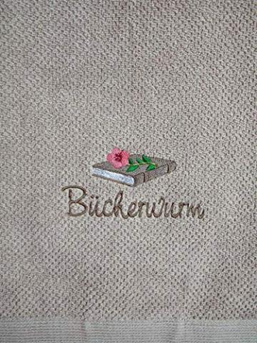 Bücherwurm Handtuch