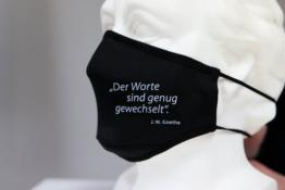Mund Nase Schutz Goethe Zitat