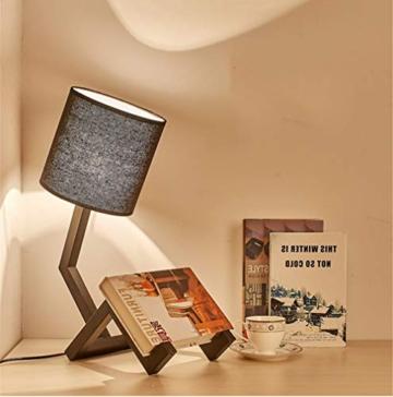 Nachttischlampe Buch