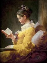 Leinwandbild lesendes Mädchen