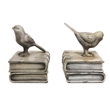 Vögel und  Bücher Keramik  Buchstütze