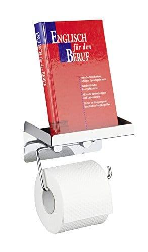Toiletenpapierhalter mit Buchablage
