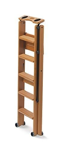 Bibliothekleiter tritt Holz